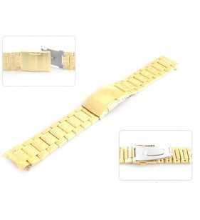 18-20 mm Bransoleta stalowa do zegarka Diloy CM1414C złota