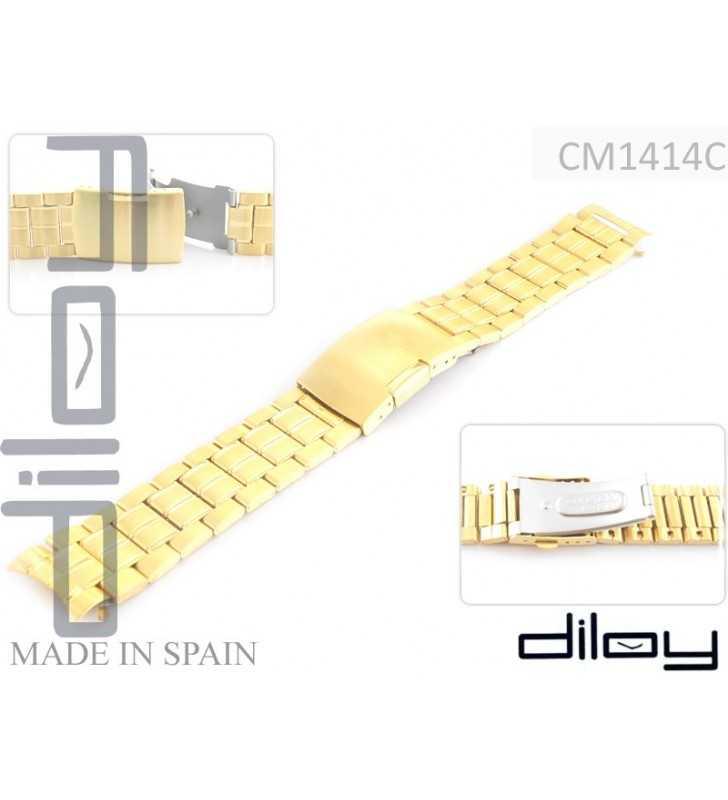 18-20 mm Bransoleta stalowa do zegarka Diloy CM1414C z okrągła końcówka