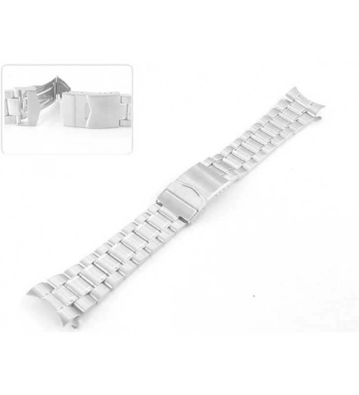 Bransoleta stalowa do zegarka Diloy CM970C, srebrna bransoleta rozmiar 18 mm,