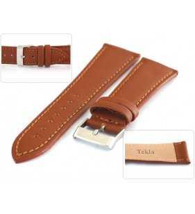 Pasek do zegarka skórzany Tekla T-027.03 jasno brązowy