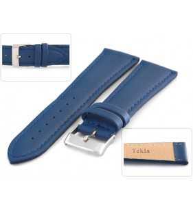 Pasek do zegarka skórzany Tekla T-027.05 koloru niebieskiego
