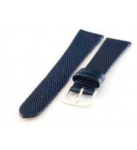 Pasek do zegarka skórzany Tekla T-030.05 jaszczurka  niebieska