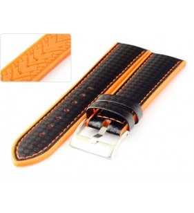 Pasek do zegarka silikonowo carbonowy Diloy 400