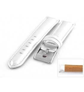 Skórzany pasek do zegarka Diloy 369.31 srebrny błyszczący
