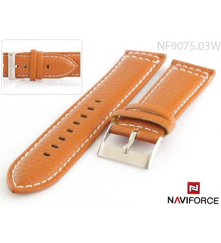 Pasek do zegarka 18-24 Mm skórzany NaviForce 9075.03W