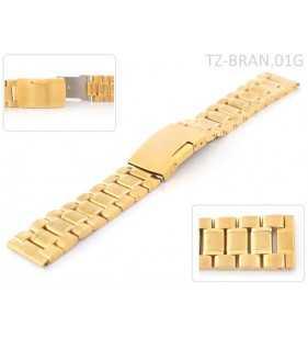 Stalowa bransoleta do zegarka złota SOLID