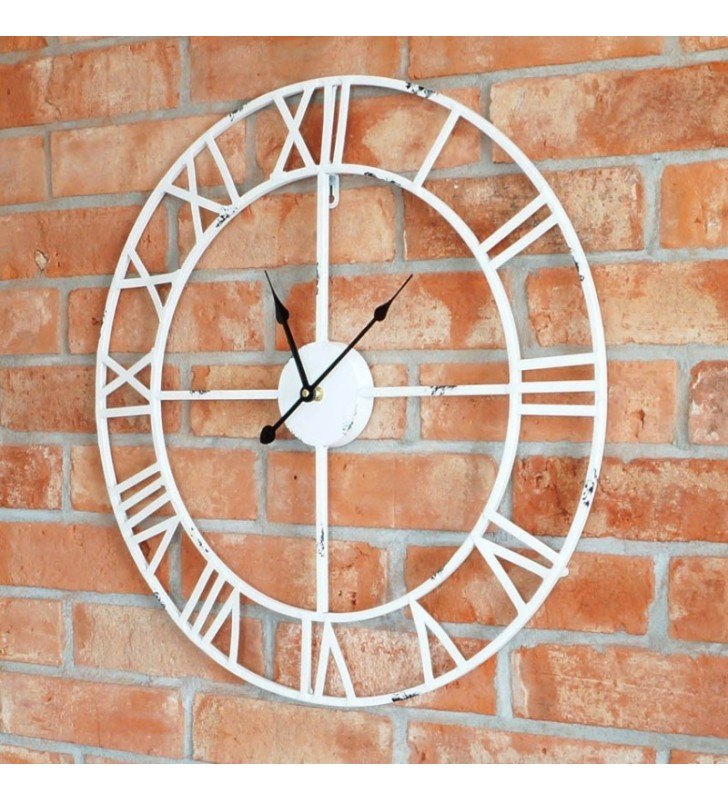 Zegar  ścienny LOFT biały