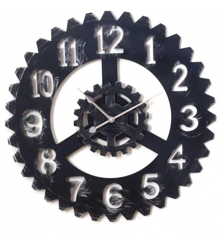 Zegar ścienny Vinatge Loft retro - cichy 3D  60 cm