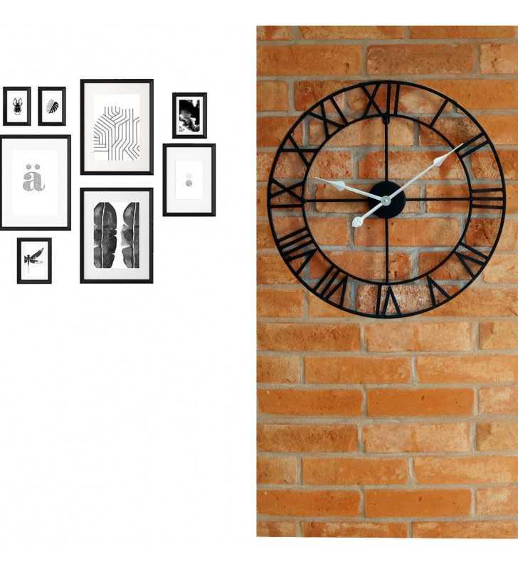 Metalowy zegar ścienny ramki