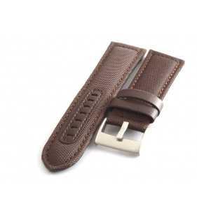 Skórzany pasek do zegarka  PACIFIC W34.02 nylonowo skórzany cevlar brązowy