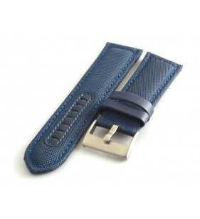 Skórzany pasek do zegarka  PACIFIC W34.05 nylonowo skórzany cevlar niebieski