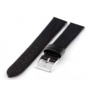 Pasek do zegarka skórzany Tekla T-030.01w2 czarna jaszczurka