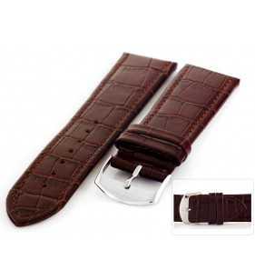 Pasek skórzany do zegarka HORIDO 087.02 XL przedłużany aligator brązowy