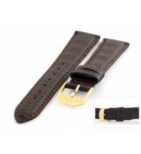 Pasek skórzany do zegarka aligator HORIDO 181L.02 XL brązowy
