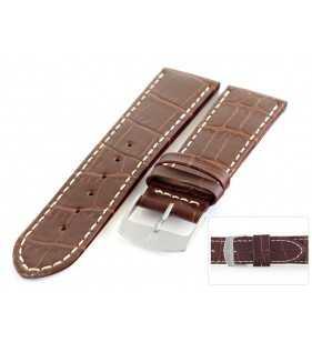 Pasek skórzany do zegarka aligator HORIDO 182L.02 XL brązowy