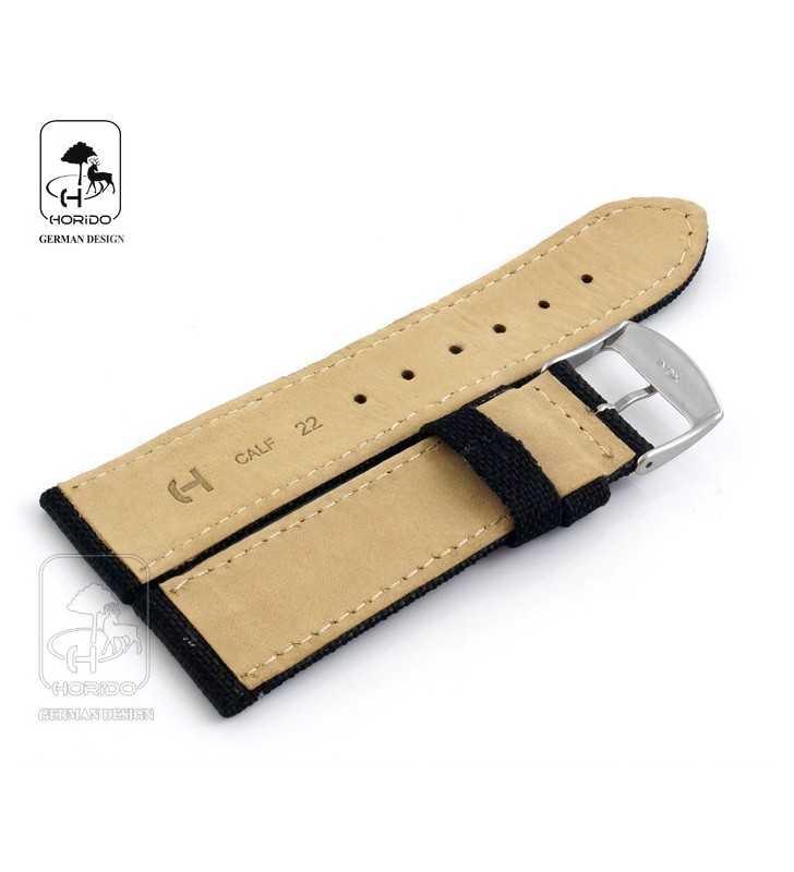 Pasek skórzano-parciany do zegarka HORIDO 165