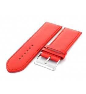 Pasek skórzany do zegarka HORIDO 501.06 czerwony