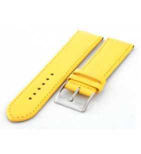 Pasek skórzany do zegarka HORIDO 501.18 żółty