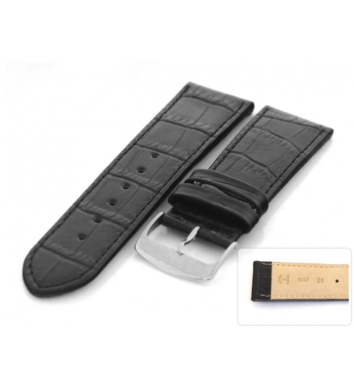 Skórzany pasek do zegarka aligator HORIDO 088L.01