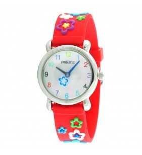 Zegarek dla dziewczynki w kolorze czerwonym, zegarek dla 3 latka,zegarek dla 4 latka, zegarek dla 5 latka, zegarek dla 6 latka