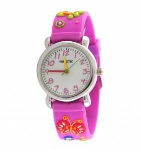 Zegarek dla dziewczynki w kolorze fioletowym, zegarek dla 3 latka,zegarek dla 4 latka, zegarek dla 5 latka, zegarek dla 6 latka