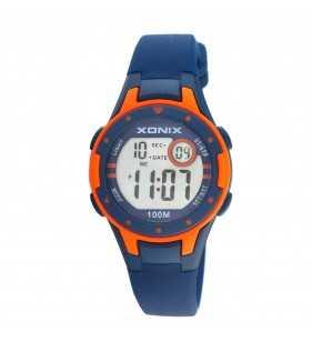 Zegarek dziecięcy XONIX IG-05 wr 100m pomarańczowo-niebieski