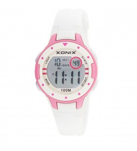 Zegarek dziecięcy XONIX IG-01 Wr 100m biało-różowy