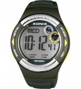 Zegarek XONIX HRM3-003 pulsometr - krokomierz, zegarek do płwyania i nurkowania, Xonix
