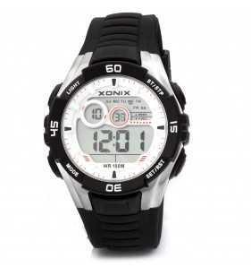 Sportowy zegarek XONIX JK-A007 Wr 100 m, Zegarki męskie do pływania z podświetleniem
