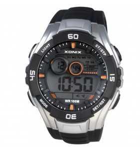 Sportowy zegarek XONIX JK-A004 Wr 100 m, Zegarki męskie do pływania z podświetleniem