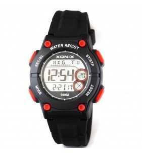 Zegarek dziecięcy XONIX KW-007 Wr 100m, Xonix, Zegarki dziecięce, czarno czerwony