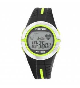 Zegarek sportowy z pulsometrem  Xonix HRM2-3 WR 100m
