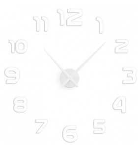 Duży zegar ścienny 3D DIY lustro 70cm-130cm 12S002 biały