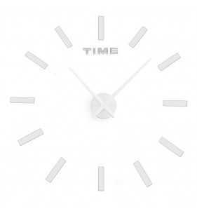 Duży zegar ścienny 3D DIY 70cm-130cm 12S030 BIAŁY