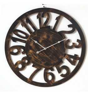 Drewniany zegar ścienny VINTAGE Shabby Loft  60 cm
