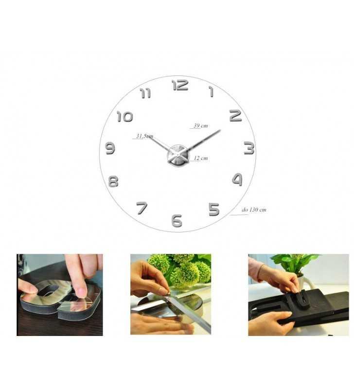 Wymiary zegara DIY XXL