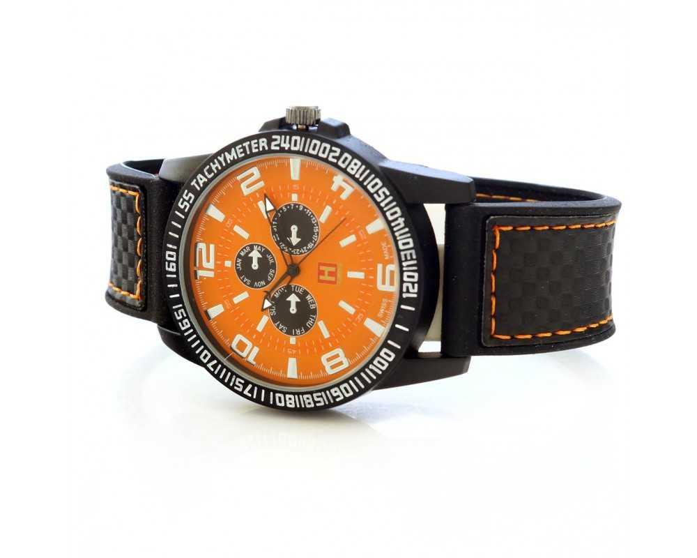 Zegarek męski Hardy Time HM01 pomarańczowy