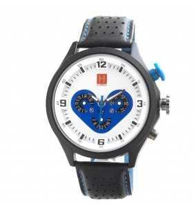 Zegarek męski Hardy Time HM02 czarno biało niebieski