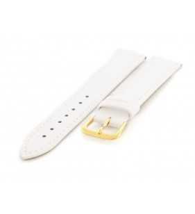 18 mm Pasek skórzany do zegarka gładki CONDOR 340.09 biały