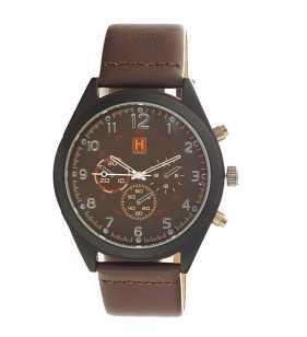 Zegarek męski Hardy Time HM03 brązowy