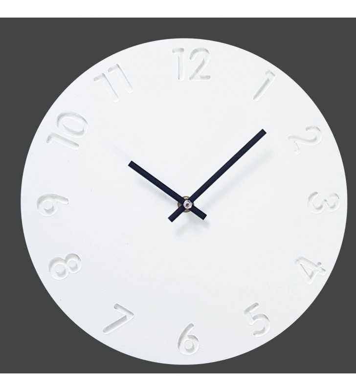 Skandynawski zegar ścieny biało czarny