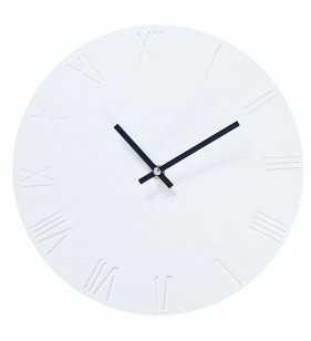 Zegar ścienny biało-czarny skandynawski Rzymski