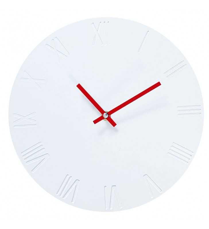 Zegar ścienny biało-czerwony Skandynawski