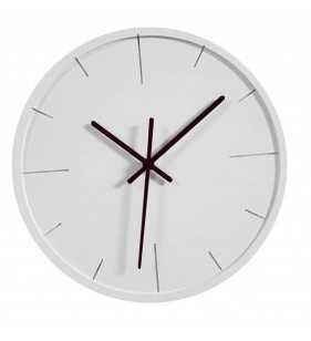 Zegar ścienny minimal biały - czarny, zegar do kuchni do salony, do pokoju dziecka