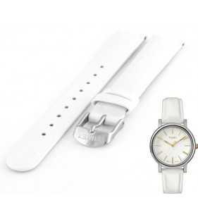 Oryginalny pasek do zegarka TIMEX T2P327 biały w rozmiarze 16 mm
