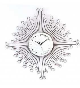 Zegar ścienny z kryształami Diamond 1059W2