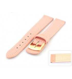 Skórzany pasek do zegarka Diloy 188.13 podkładka różowa