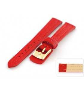 12-14 mm Skórzany pasek do zegarka Diloy 188.06 podkładka czerwona
