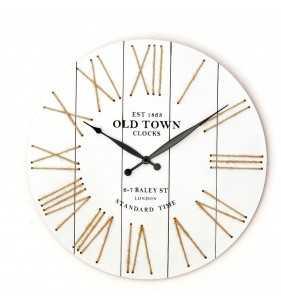 Nowoczesny zegar ścienny VINTAGE SHABBY LOFT 50 cm