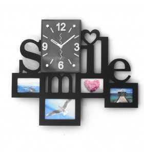 NOWOCZESNY ZEGAR ŚCIENNY RAMKI  NA ZDJĘCIA SMILE